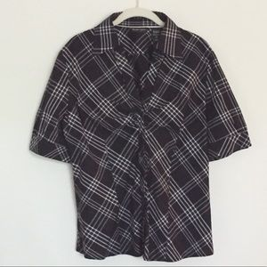 Plaid fitted shirt XL